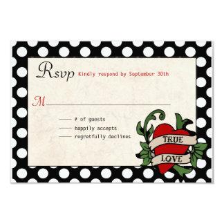 Rockabilly Wedding RSVP 9 Cm X 13 Cm Invitation Card