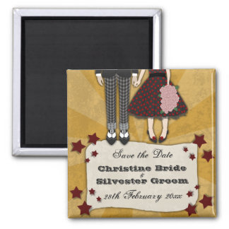 Rockabilly Wedding, save the date Magnet