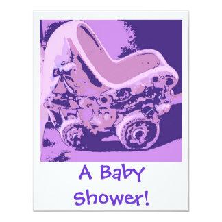 Rockabye Baby Buggy/Shower Gifts 11 Cm X 14 Cm Invitation Card