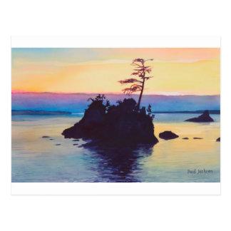 Rockaway Beach Sunset by Paul Jackson aws, nws Postcard
