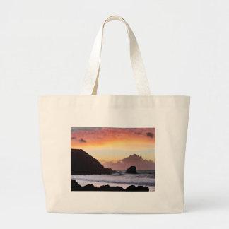 Rockaway Beach Sunset Large Tote Bag