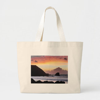 Rockaway Beach Sunset Jumbo Tote Bag
