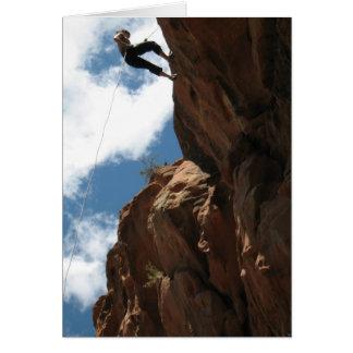 Rockclimb Greeting Card