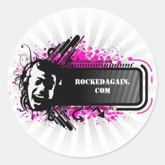 RockedAgain.com Logo On Sticker