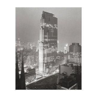 Rockefeller Center, 1933 Stretched Canvas Print