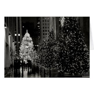 Rockefeller Center Christmas Tree Card Card