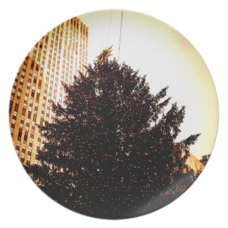 Rockefeller Center Christmas Tree Holiday Plate