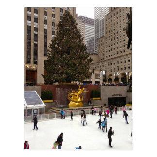 Rockefeller Center Christmas Tree Skating Rink NYC Postcard