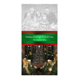 Rockefeller Center Christmas Tree, Your Photo Photo Greeting Card