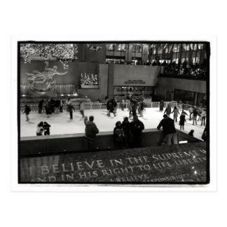 Rockefeller Center Ice Rick Postcard