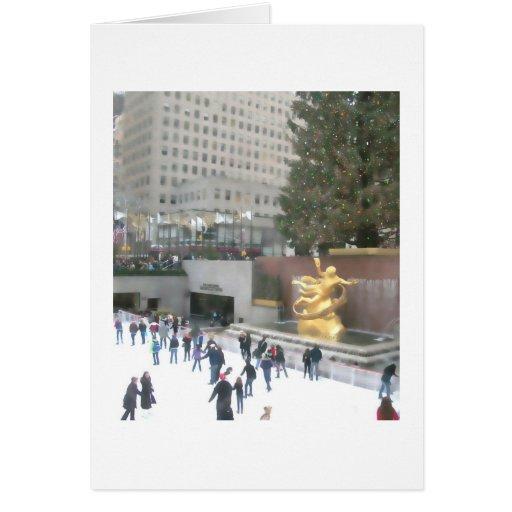 Rockefeller Center Ice Rink & Tree Christmas Card