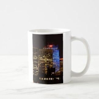 Rockefeller Center lit up blue for Autism 2012 Basic White Mug