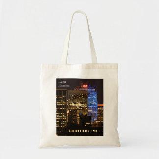 Rockefeller Center lit up blue for Autism 2012 Budget Tote Bag
