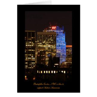 Rockefeller Center lit up blue for Autism 2012 Greeting Card