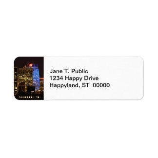 Rockefeller Center lit up blue for Autism 2012 Return Address Label