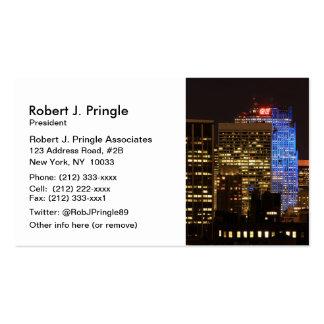 Rockefeller Center lit up blue for Autism 2012 Pack Of Standard Business Cards