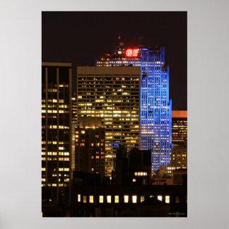 Rockefeller Center lit up blue for Autism 2012 Print
