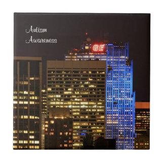 Rockefeller Center lit up blue for Autism 2012 Tile