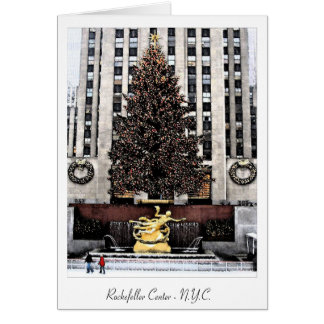 Rockefeller Center - New York City Greeting Card