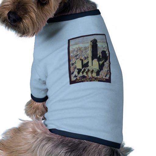 Rockefeller Center New York Pet Tee Shirt
