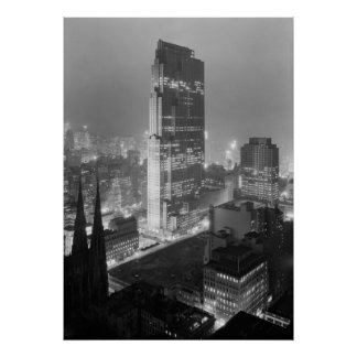 Rockefeller Center New york NY 1933 Poster