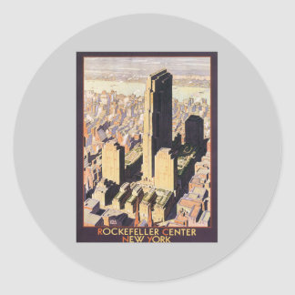 Rockefeller Center New York Round Sticker