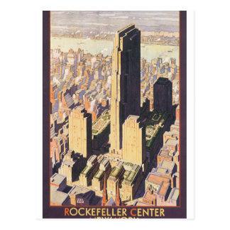Rockefeller Center New York Vintage Travel Poster Postcard