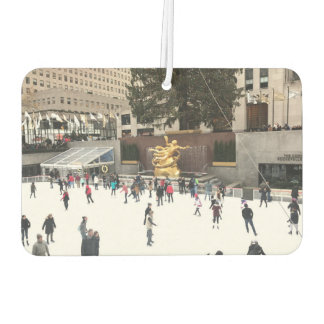 Rockefeller Center Rink Ice Skaters Christmas NYC Car Air Freshener
