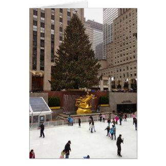 Rockefeller Center Skating Rink NYC Christmas Card