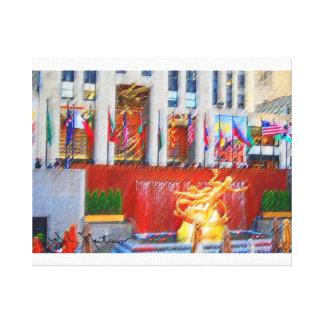 Rockefeller Center Stretched Canvas Print
