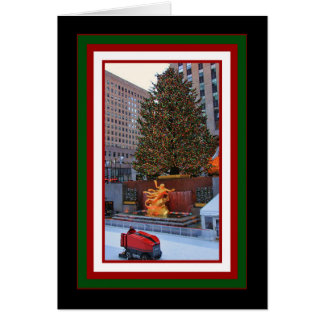 Rockefeller Center Tree, Rink Christmas Greeting Card