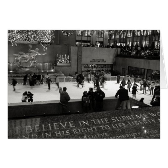 Rockefeller Centre Ice Rink Card