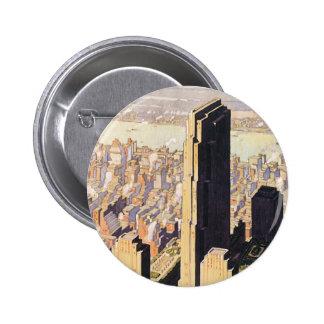 Rockefeller Centre New York Button