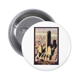 Rockefeller Centre New York Pinback Button