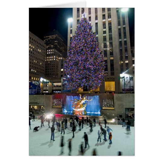Rockefeller Centre Tree and Skaters Card