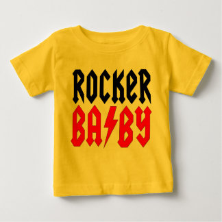 Rocker Baby Tee with Custom Name on Back