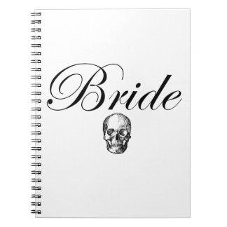 Rocker Bride Goth Skull Note Books