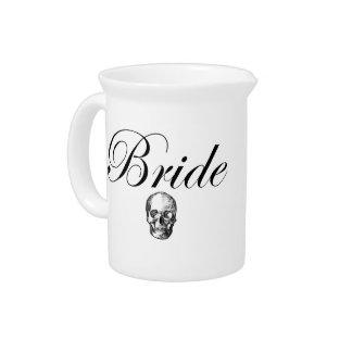 Rocker Bride Goth Skull Pitchers
