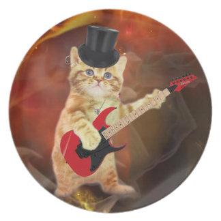 rocker cat in flames plate