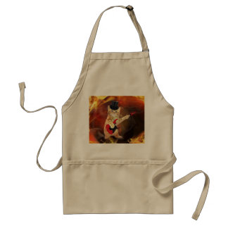 rocker cat in flames standard apron