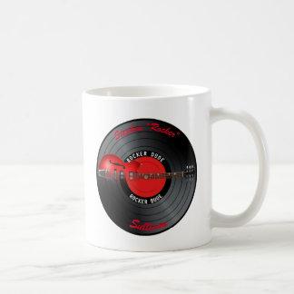 Rocker Dude Guitar Record Name Coffee Mug