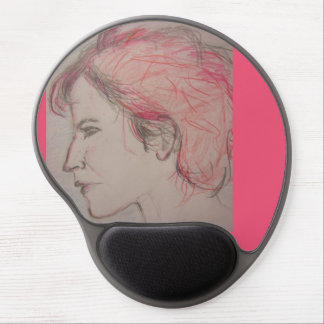 rocker girl portrait gel mouse pad