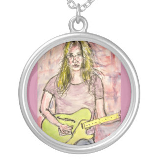 Rocker Girl Silver Plated Necklace