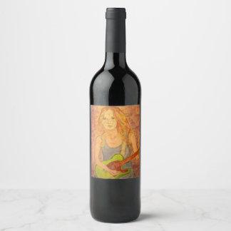 Rocker Girl Wine Label
