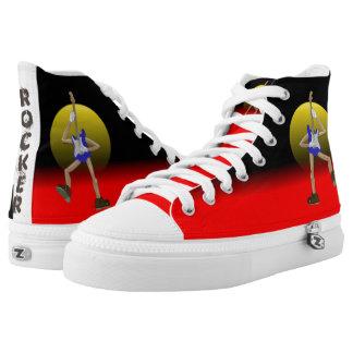 Rocker Hi Top Sneakers. Guitar tennis shoes.