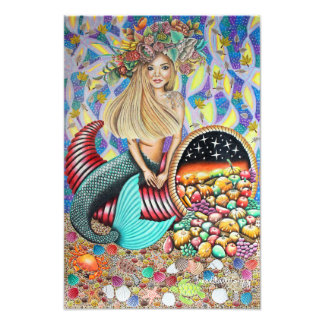 Rocker Mermaid And The Enchanted Cornucopia Photograph