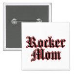 Rocker Mum! 15 Cm Square Badge