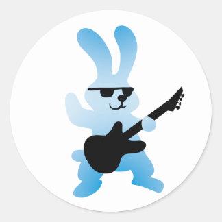 Rocker rabbit classic round sticker