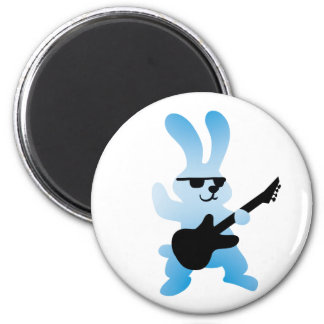Rocker rabbit magnet