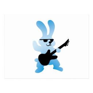 Rocker rabbit postcard